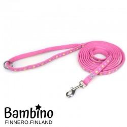Finnero Bambino talutin, 250cm Girly Pink