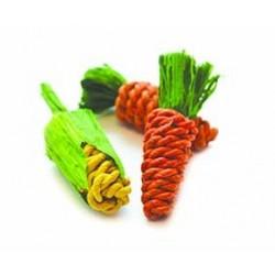 Happy Pet Sisal Mini porkkana&maissi, 3kpl