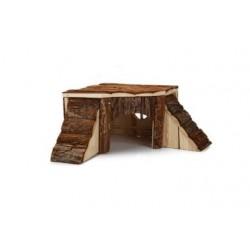 Jyrsijän puinen kulmatalo, 35x35x16cm